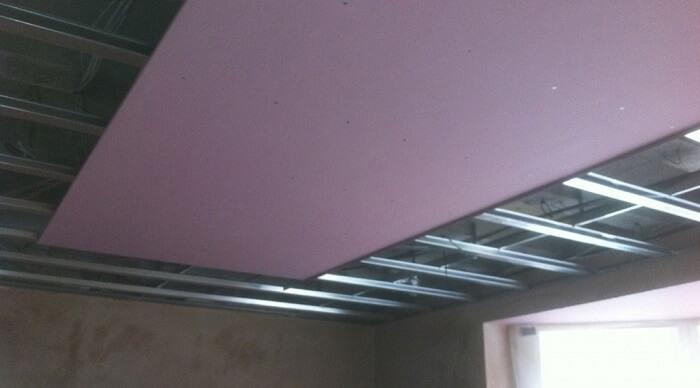 Photos de faux plafonds suspendus monfauxplafond com for Plafond suspendu en plaque de platre